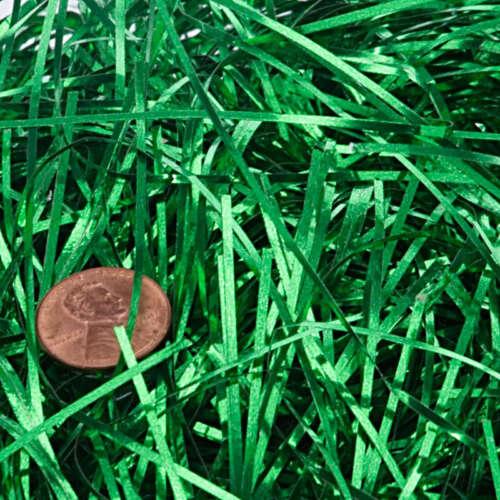 GREEN Angel Hair Tinsel Shred Easter Gift Basket Filler Packaging Egg Hunt BULK