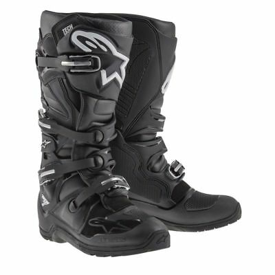 Alpinestars Tech 7 Adult Motocross Boot Black//Silver//White//Gold MX Off-Road Enduro Quad ATV