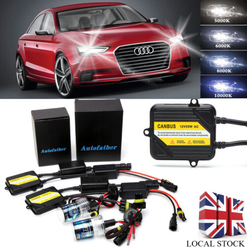 H7 XENON HID HEADLIGHTS KIT NO FLICKER BUILT-IN CANBUS ERROR FREE FOR Audi A3