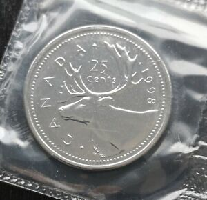 CANADA-25-CENTS-1998-SEALED-PROOF-LIKE-KEY-DATE