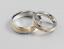 Anello-Anelli-Coppia-Fedi-Fede-Fedine-Fidanzamento-Nuziali-Cristallo-Oro-Fascia miniatura 4