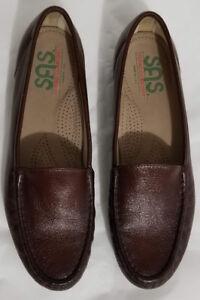 SAS-TRIPAD-COMFORT-Womens-Brown-Leather-Loafers-Flats-Slip-on-Comfort-Shoe-Sz-9N