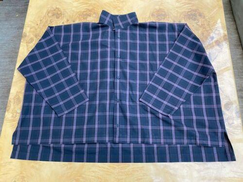ESKANDAR Women's Size 1 Black Plaid Cotton Long Sl