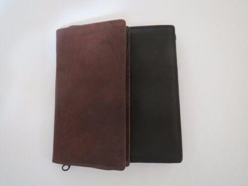 Zipper Checkbook Wallet ID Credit Card Money Holder Long Bifold Genuine Leather