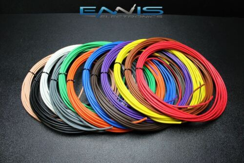 12 GAUGE WIRE ENNIS ELECTRONICS PICK 7 COLORS 25 FT EA CABLE AWG COPPER CLAD