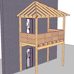 Holzbalkon Vorstellbalkon Balkonbausatz Anbaubalkon Vorbaubalkon Mit