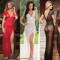 Women's Sexy Lingerie Lace Dress Babydoll Sleepwear Underwear G-String Nightwear