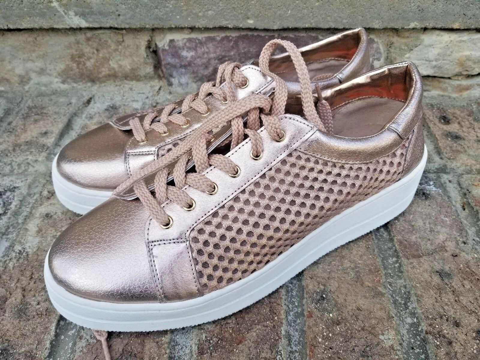 Steven Steve Madden Damenschuhe Nyssa Lace Up Rose Sneaker Schuhes Größe 9.5 Rose Up Gold Blush e66291