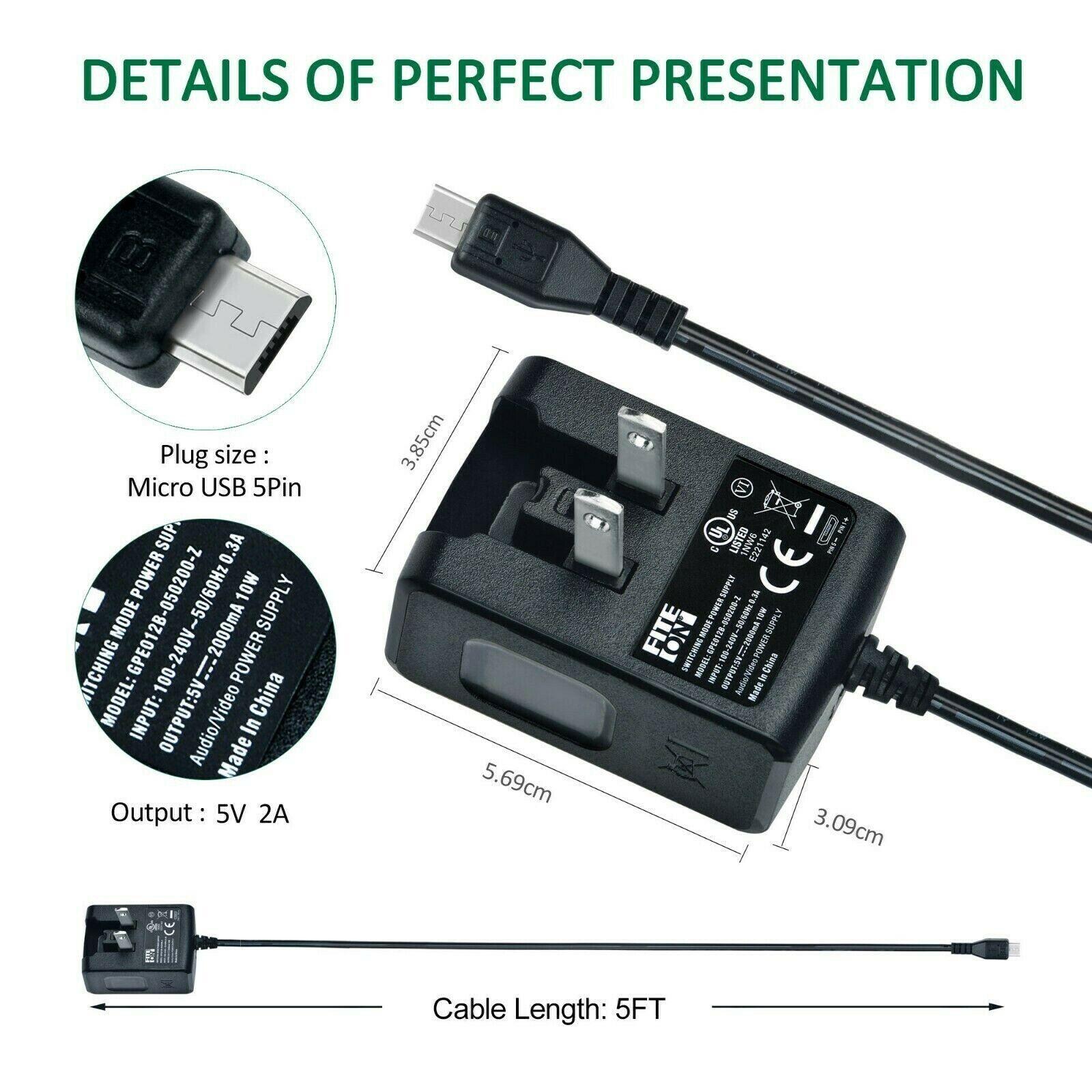 Data SYNC Cable Cord for Kurio 7s 96125 C13000 Kids Tablet POWE-Tech USB DC Power Charger