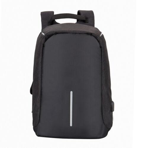 Zaino per notebook antifurto con porta USB Borsa da viaggio PC Tela Uomo