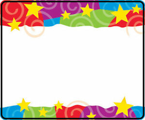 stars swirls name tag stickers school labels party ebay