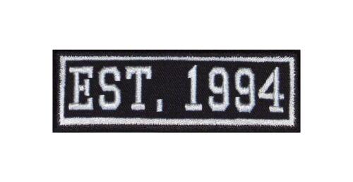 Established 1994 Biker Patches Aufnäher Year Est Founded Gegründet Since MC Seit