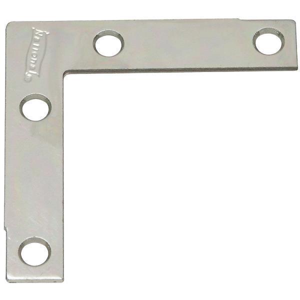 25 Pk Steel Zinc Plated 1 2  X 2 1 2  Window Flat Corner Angle Iron 4 Pk N113928
