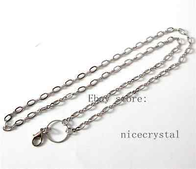 5pcs 73cm length Alloy Necklace Chain Fit DIY Floating locket40