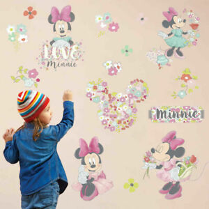 Sweet-Minnie-Mouse-Vinyl-Wall-Sticker-Flower-Decals-Kid-Girls-Nursery-Room-Decor