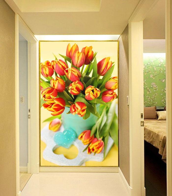 3D Hübsche Tulpen 753 Tapete Wandgemälde Tapete Tapeten Bild Familie DE Summer