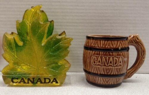 Vintage 1960's 70's Souvenir Canada Napkin Holder and Ceramic Mug