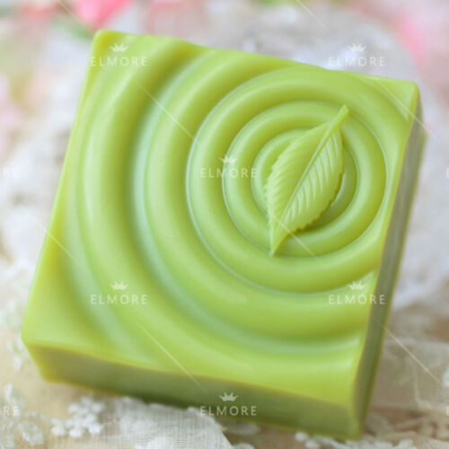 Leaf Silicone Soap Molds Square Form for DIY Craft Art Resin Candle Wax Plaster