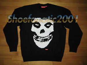 6f01445ca04a Image is loading Supreme-Misfits-Crewneck-Sweatshirt-Pullover-Large-Black -Box-