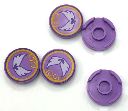 Lego 5 New Medium Lavender Tile Round 2 x 2 with Bottom Stud Holder with Pieces