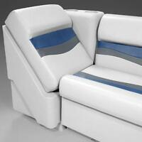 Right Lean Back Pontoon Seats In Gray, Blue And Charcoal