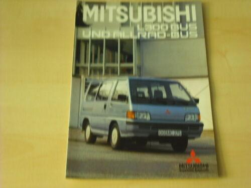 1 von 1 - 54850) Mitsubishi L 300 + Allrad Bus Prospekt 06/1987