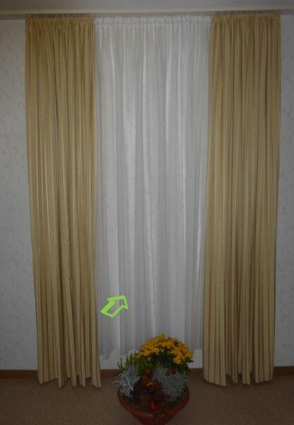 Tenda Store naturale a strisce altezza 175 cm SIPARIO
