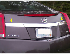 QAA 1PC STAINLESS STEEL LICENSE PLATE TRIM LP50254 FITS 2011-2014 CADY CTS COUPE