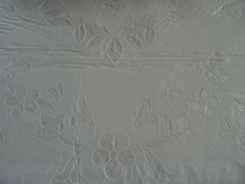 150x260 cm Weiß RECHTECKIG Tischdecke Vinyl TISCHDECKE SCHUTZDECKE Blumenmuster