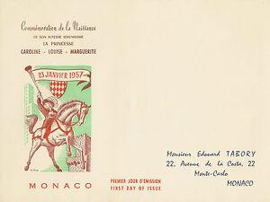 ENVELOPPE-1ER-JOUR-COMMEMORATION-PRINCESSE-CAROLINE-DE-MONACO