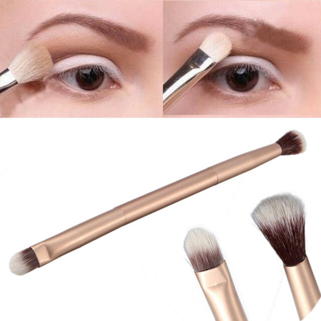 1PC Pro Cosmetic Makeup Eye Powder Foundation Eyeshadow Double-Ended Brush Pen