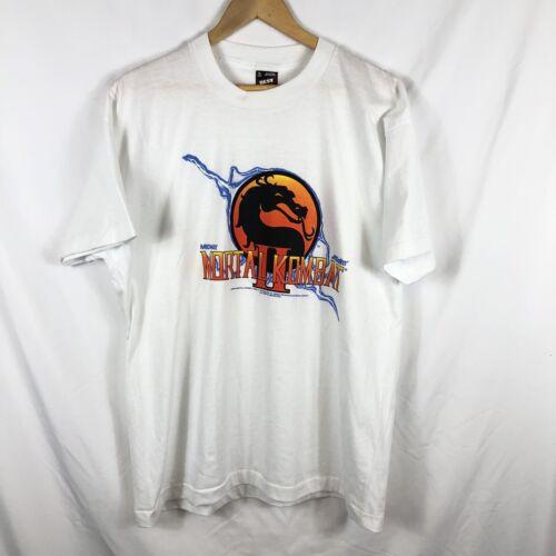 Vintage 1993 Mortal Kombat 2 Video Game Promo T Sh