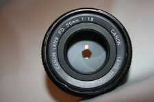 Canon FD 50mm 1:1.8 Manual Japan Lens Caps - light bent on screw thread!!