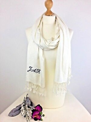 Womens LUXURY warm red hand embroidered embellished wool wrap shawl scarf