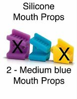Tattoo Tongue Piercing Silicone Mouth Props Bite Blocks 2 Pcs Medium Turquoise