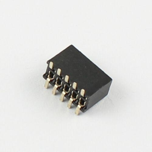 Chapado en Oro 20Pcs 1.27mm 2x5 Pin 10 Pin SMT SMD Tira de encabezado hembra doble fila