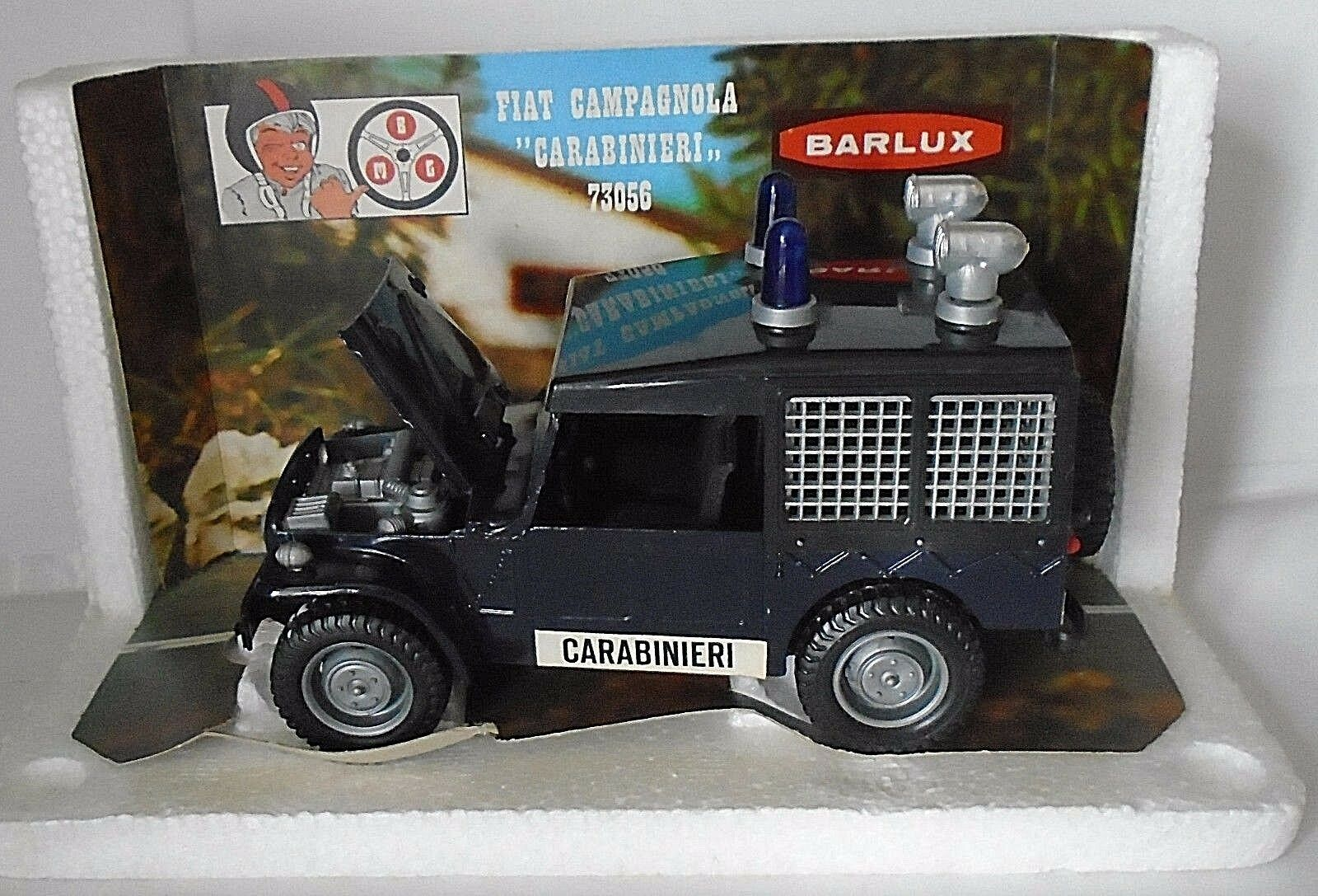 Fiat Campagnola Carabineros Barlux 73056 Made in  1 25 escala Diecast