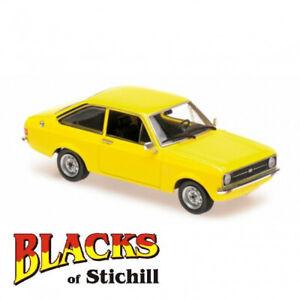 Maxichamps-1-43-Escala-Ford-Escort-Mk2-Amarillo-3-puertas-1975-Diecast-Modelo-Coche