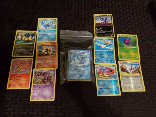 55 Pokemon Cards Lot with 5 FOILS and 5 RARES and 5 HOLO CARDS No Duplicates!!!