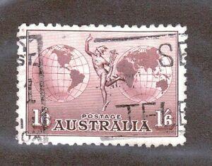 Australia Scott C4 - Airmail. 1 Shilling 6 Pence. Used. #02 AUSC4c