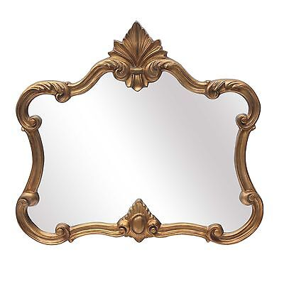 French Style Antique Gold Ornate Overmantle Mirror