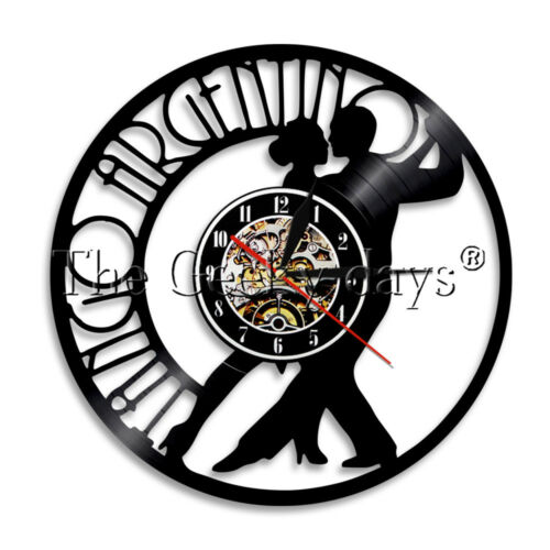 TANGO ARGENTIN Vinyle Horloge Murale couple dansant Horloge Murale Danseur Cadeau