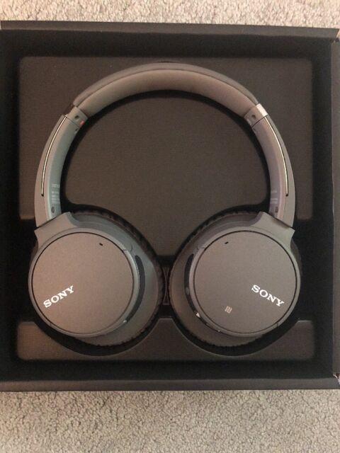 Sony WHCH700N/H Wireless Noise Canceling Headphones (Gray)
