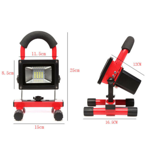 Rechargeable Floodlight CREE LED Work Flood Light 60W Security Outdoor /& UK Plug