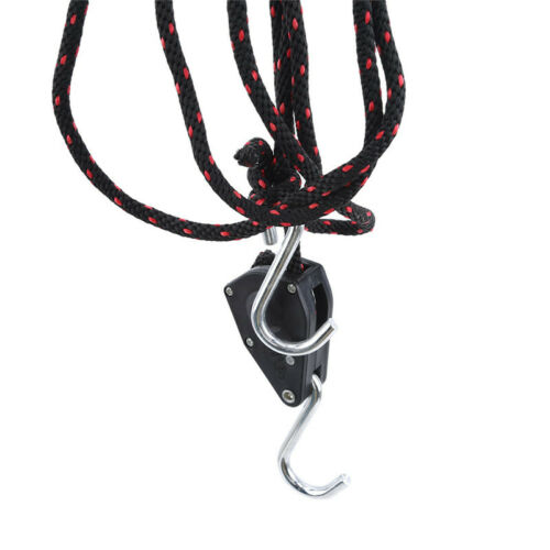 Pulley Kayak Safety Rope Lock Tie Down Strap Duty Adjustable Safety Rope SK