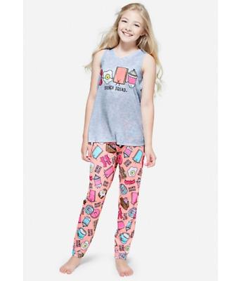 NWT Justice Girls Bee-You-Tiful Pouch 2pc Short Pajama Set U Pick SZ NEW