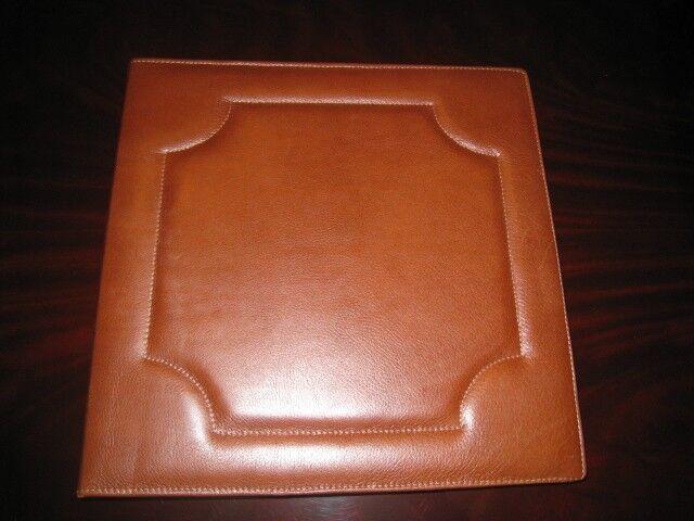 Luxury Bontruper Brown Genuine Pebble Leather Scrapbook Photo Album
