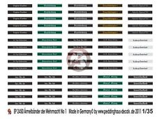 Peddinghaus 1//48 German Wehrmacht Uniform Insignia /& Armbands Cuff Titles 1115