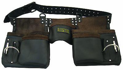 Carpenter's Rig Brown Leather 10 Pocket Tool Belt