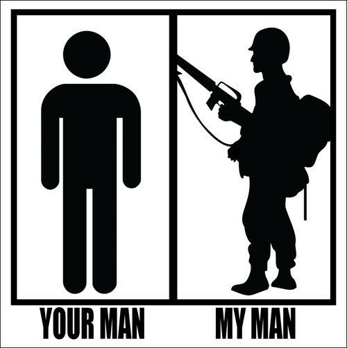 Your Man My Man Soldier Sticker Decal 5.5 x 5.5 inches military wife girlfriend